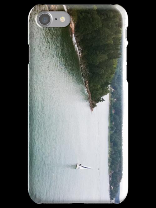 Boat at Sea [ iPad / iPod / iPhone Case ] by Mauricio Santana