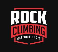 Rock Climbing Extreme Sport Black Unisex T-Shirt