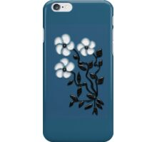 White Petal Art Flowers iPhone Case/Skin