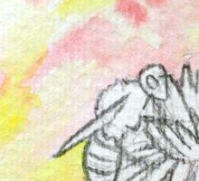 Watercolour Bee #2 Sticker