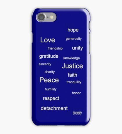 Justice - Blue iPhone Case/Skin