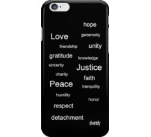 Justice - Black iPhone Case/Skin