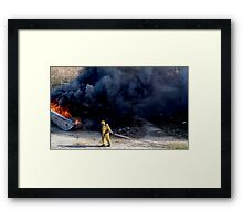 Sad end of life for this boat in Nassau, The Bahamas Framed Print