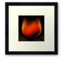 Groovy Red  Framed Print