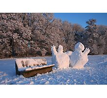 Singing Snowman - Let It Snow Photographic Print