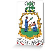 Coat of Arms of Saint Vincent & the Grenadines  Greeting Card