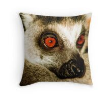Portrait of a Ring Tailed Lemur Throw Pillow