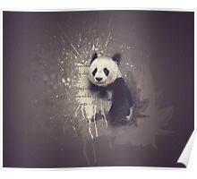 Cute Abstract Panda Poster