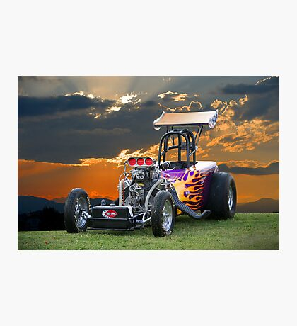 A/Altered Drag Car Photographic Print