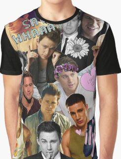 Channing Tatum Collage Graphic T-Shirt