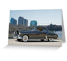 1950 Oldsmobile Rocket 88 Greeting Card