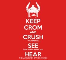 KEEP CROM - No blood version by SenseiMonkeyboy