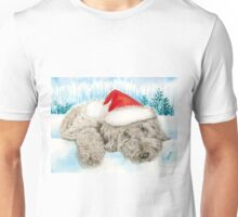 Christmas Chocolate Labradoodle Pup Unisex T-Shirt