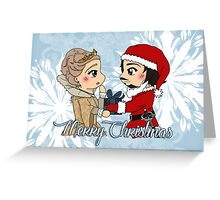 The Musketeers Christmas Card - Aramis and Anne Greeting Card