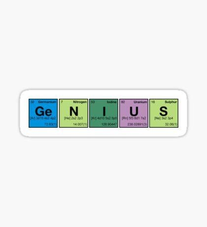 GENIUS! Periodic Table Scrabble Sticker