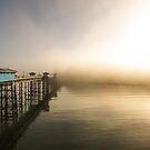 Llandudno Pier in the fog by RH-prints