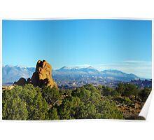 Rocks and Manti La Sal Mountains, Utah Poster