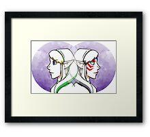 Link and Fierce Deity Link  Framed Print