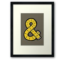 Ampersand Measuring Tape Framed Print
