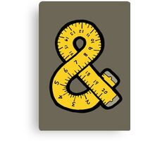 Ampersand Measuring Tape Canvas Print
