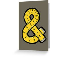 Ampersand Measuring Tape Greeting Card