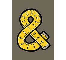 Ampersand Measuring Tape Photographic Print