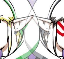 Link and Fierce Deity Link  Sticker