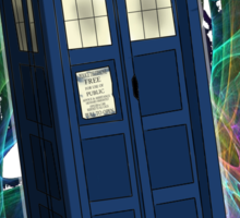 TARDIS in the Vortex Sticker