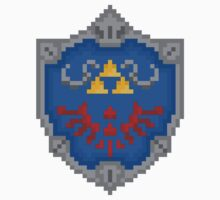 "Pixel Hylian Shield - ""Legend Of Zelda"" by PixelBlock"
