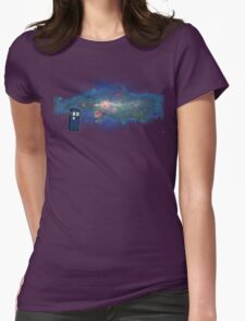 TARDIS & The Milkyway Womens Fitted T-Shirt