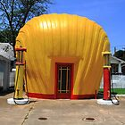 Shell Shaped Gas Station by Frank Romeo