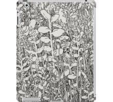 Plant Circle - Black and White  iPad Case/Skin