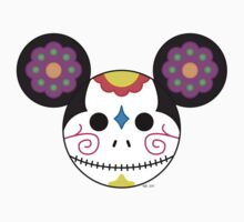 Mickey Sugar Skull One Piece - Long Sleeve