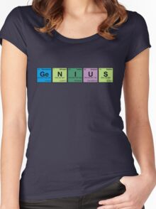 GENIUS! Periodic Table Scrabble Women's Fitted Scoop T-Shirt