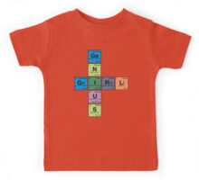 GIRL GENIUS! Periodic Table Scrabble Kids Tee