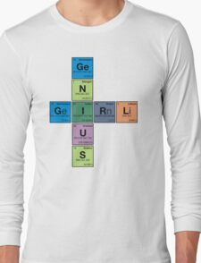 GIRL GENIUS! Periodic Table Scrabble Long Sleeve T-Shirt
