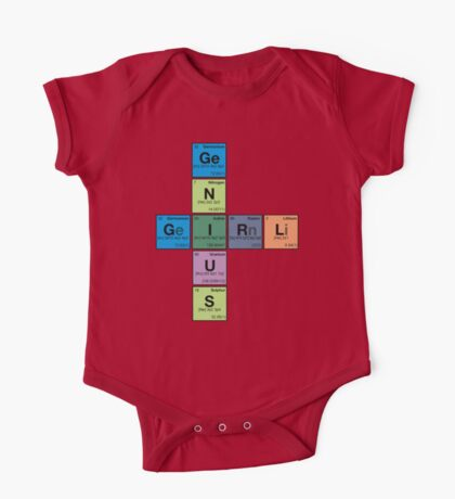 GIRL GENIUS! Periodic Table Scrabble One Piece - Short Sleeve