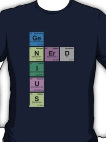 GENIUS NERD! Periodic Table Scrabble T-Shirt