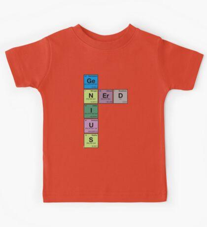 GENIUS NERD! Periodic Table Scrabble Kids Tee