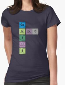 GENIUS NERD! Periodic Table Scrabble Womens Fitted T-Shirt
