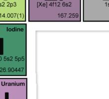 GENIUS NERD! Periodic Table Scrabble Sticker