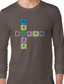 SCIENCE GENIUS! Periodic Elements Scrabble Long Sleeve T-Shirt