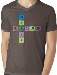 SCIENCE GENIUS! Periodic Elements Scrabble Mens V-Neck T-Shirt