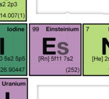 SCIENCE GENIUS! Periodic Elements Scrabble Sticker