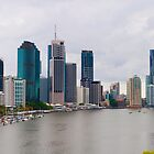brisbane cityscape by gary roberts