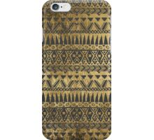 Swanky Faux Gold and Black Hand Drawn Aztec iPhone Case/Skin