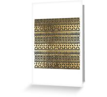 Swanky Faux Gold and Black Hand Drawn Aztec Greeting Card