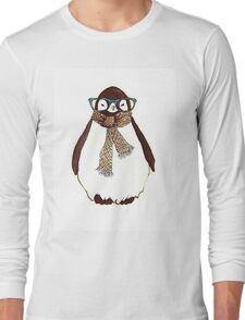 cute fluffy penguin Long Sleeve T-Shirt