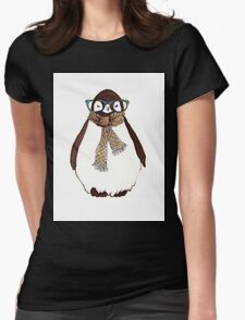 cute fluffy penguin Womens Fitted T-Shirt
