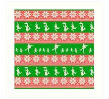 Mary Christmas Sweater Print Art Print